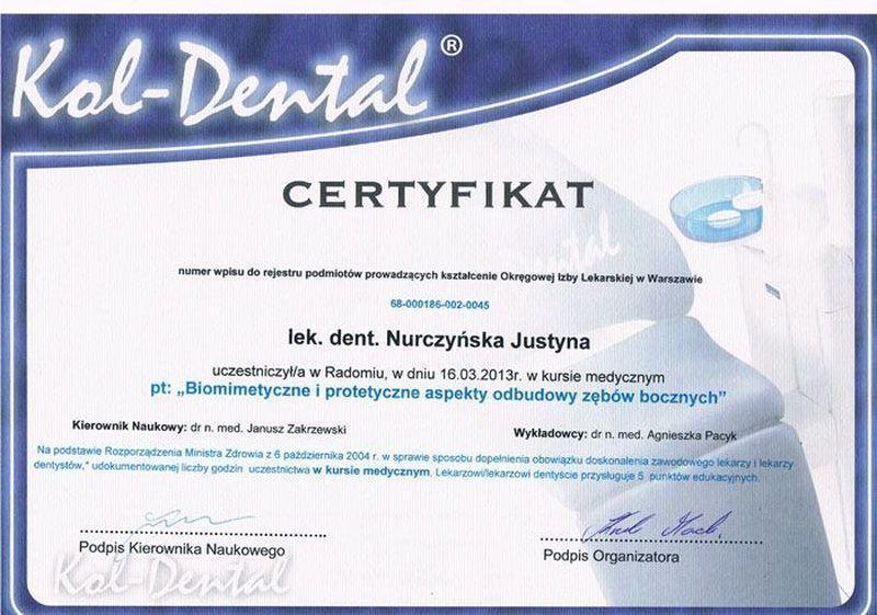certyfikat stomatologiczny 4