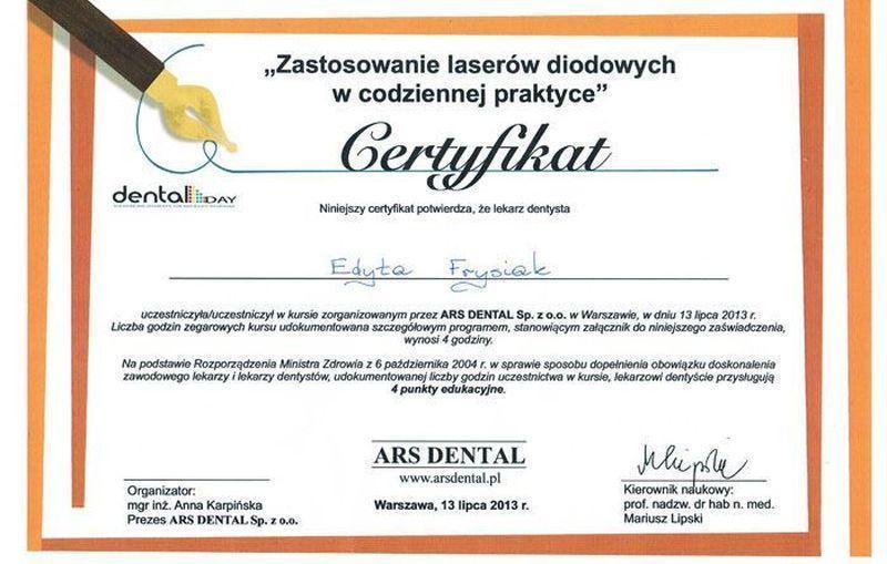 certyfikat stomatologiczny 6